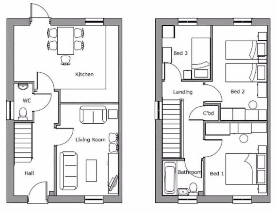 2 bedroom terraced house for sale in 28,34,36 North Street