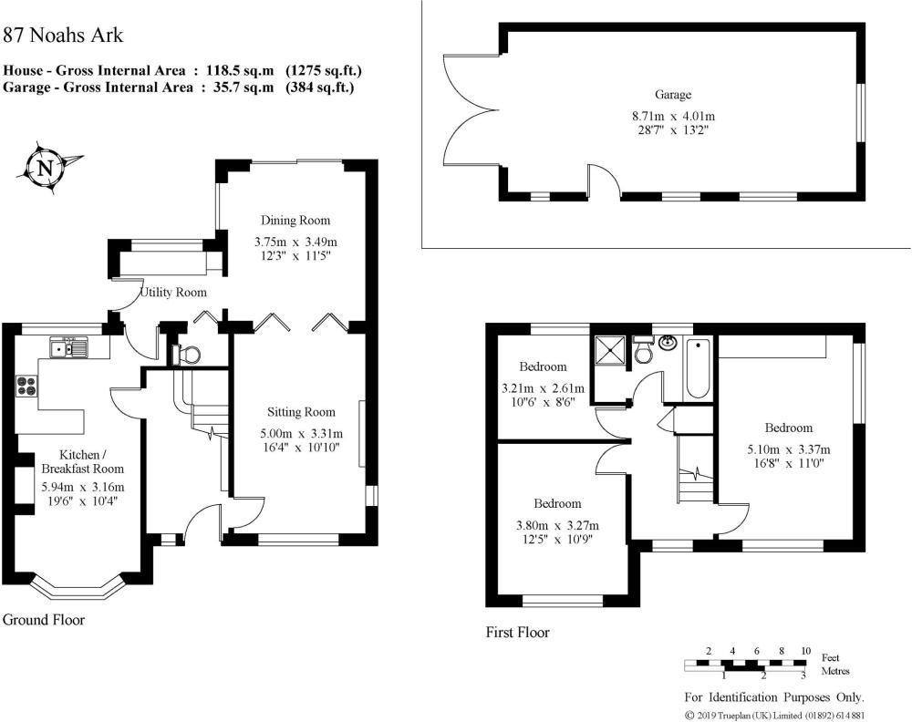 medium resolution of 3 bedroom detached house for sale in noahs ark kemsing sevenoaks kent tn15
