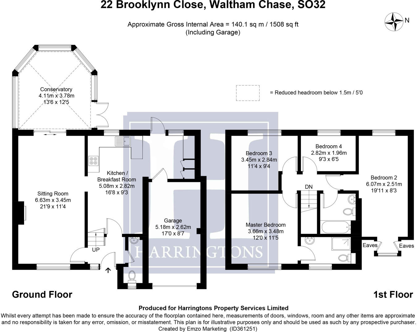 hight resolution of 4 bedroom detached house for sale in brooklynn close waltham chase so32