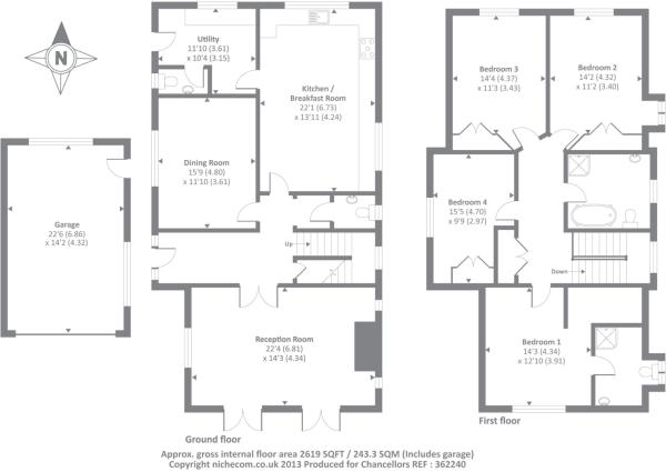 4 bedroom detached house for sale in Bellingdon