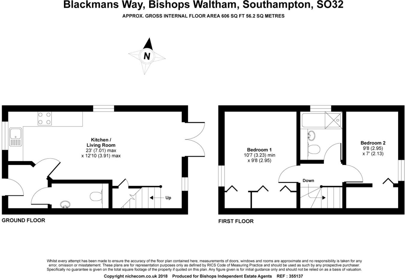 hight resolution of 2 bedroom house for sale in blackmans way bishops waltham hampshire so32 so32