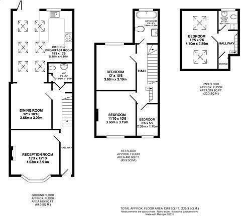 4 bedroom terraced house for sale in Marmion Road, Henley