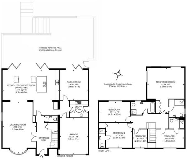 5 bedroom detached house for sale in Hook Heath, Woking