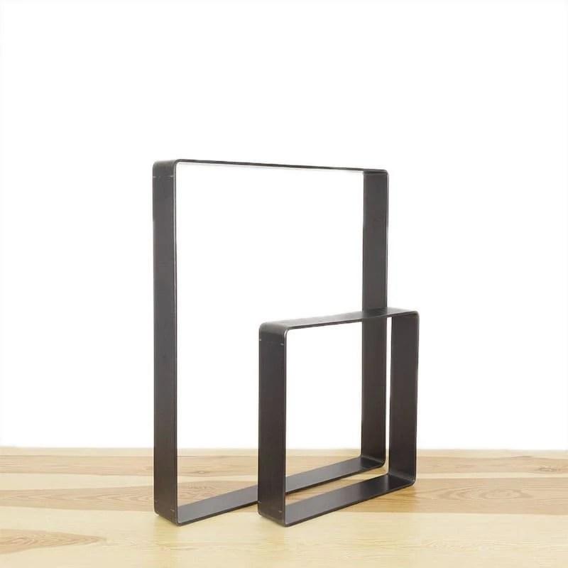 l audacieux pied pour banc ou table en acier sur mesure