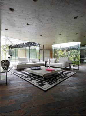 corner media units living room furniture false ceiling pictures for connexe composition - roche bobois