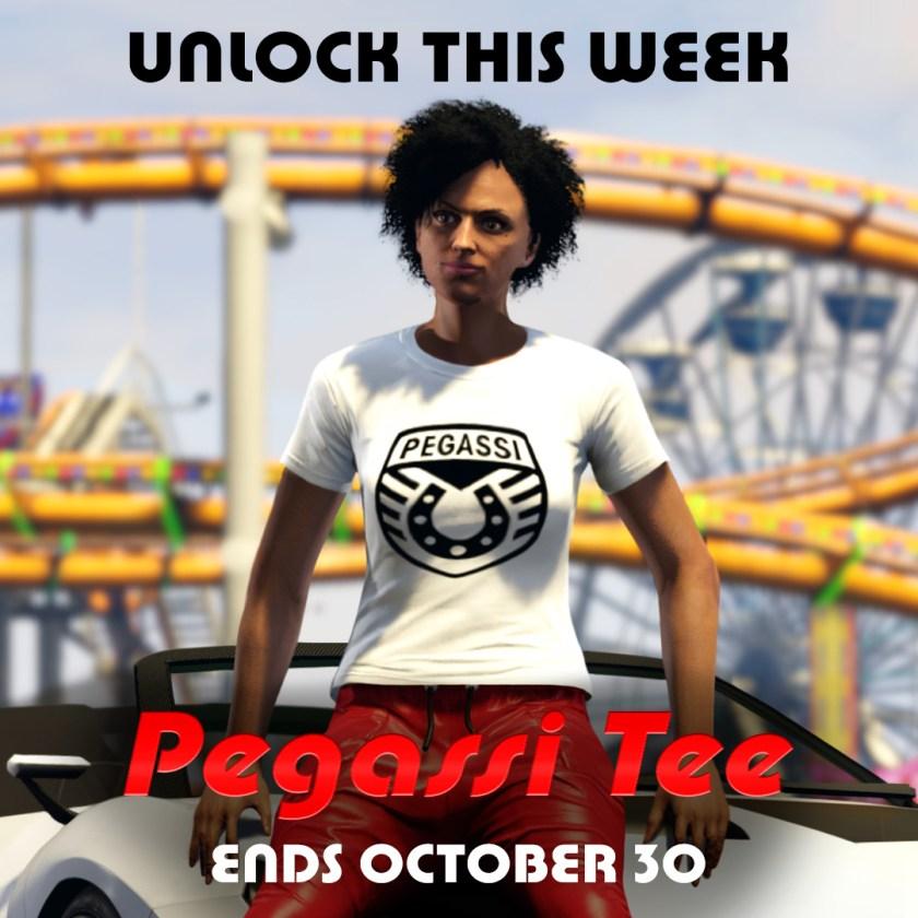 Le t-shirt Pegassi est disponible gratuitement sur GTA Online. Il suffit de se connecter d'ici au 30 octobre