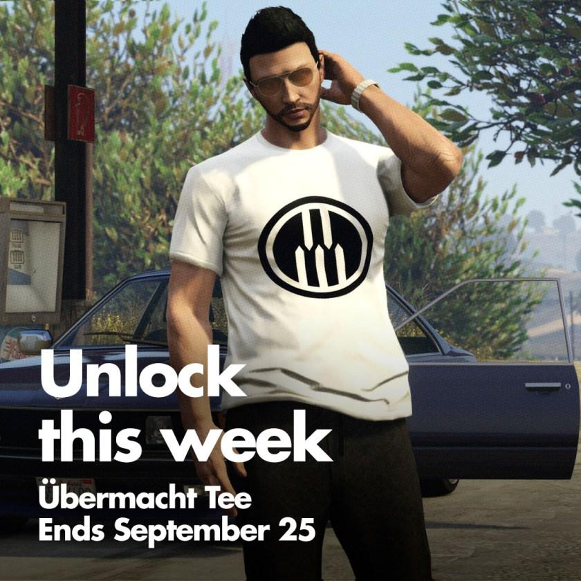 Le t-shirt Übermacht est disponible sur GTA Online