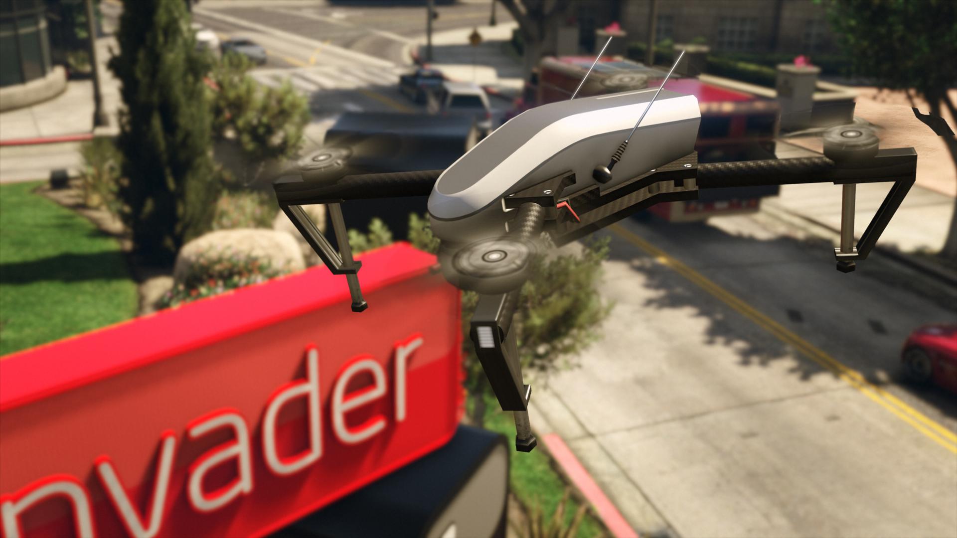 Drone survolant l'enseigne de LifeInvader