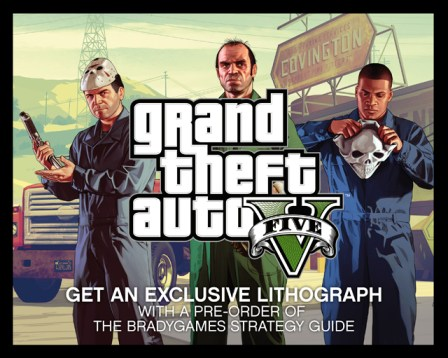 GTAV Strategy Guide Lithograph