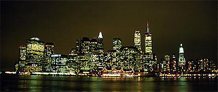 skyline de nuit villes nuit