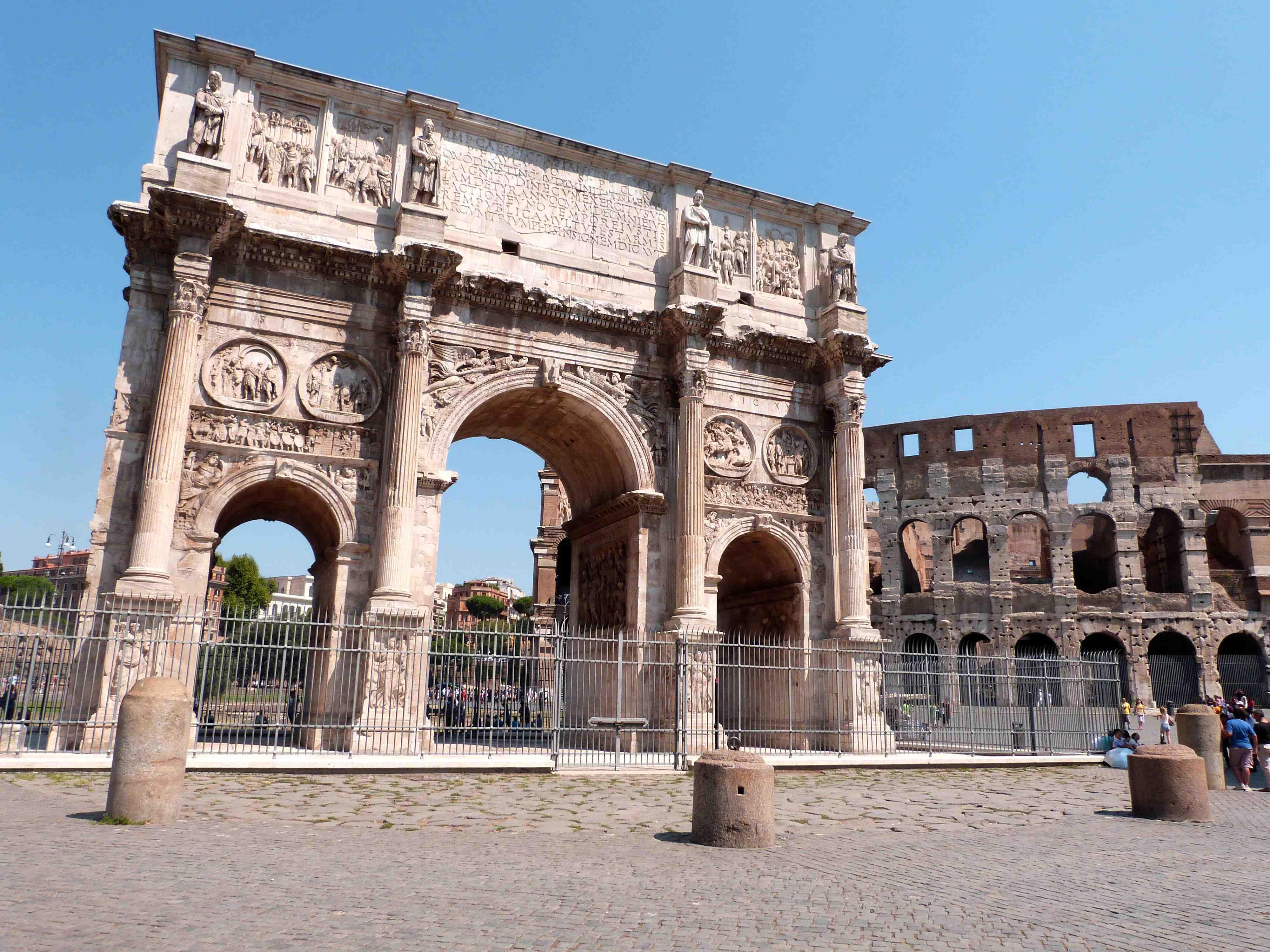 Arc de triomphe et Colisée : Arco di Costantino (arc de Constantin) : Rome antique : Rome : Routard.com
