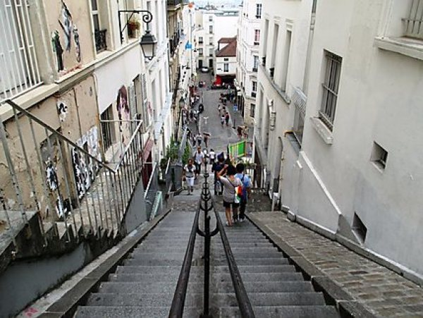 Les escaliers de la rue Drevet