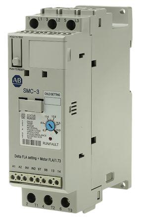 150C19NBR   Allen Bradley 19 A Soft Starter SMC3 Series, IP2X, 75 kW, 200 → 460 V ac   Allen