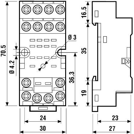 14 pin relay socket wiring diagram 240v receptacle 94 74sma finder din rail panel mount https media rs online com t large l1893263