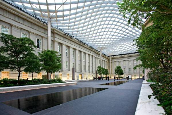 Courtyard Washington DC Smithsonian American Art Museum