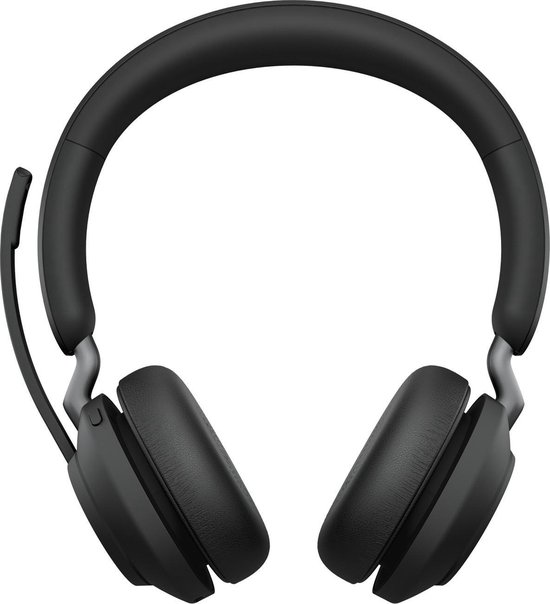 Jabra Evolve2 65 MS Stereo - Bluetooth Headset - op oor - draadloos - USB - noise isolating - bluetooth 5.0
