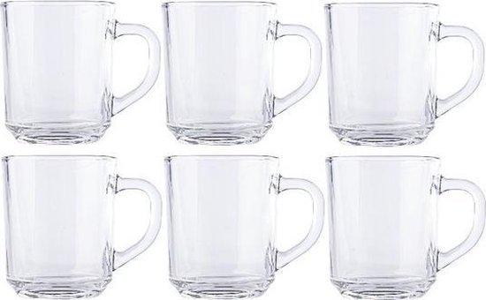 6x theeglazen koffieglazen 260 ml