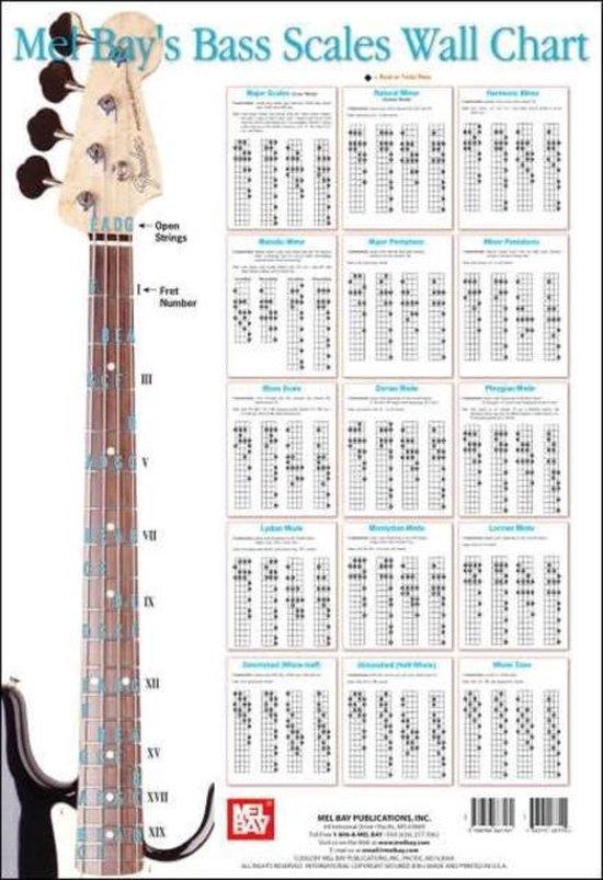 Bass Fret Chart : chart, Bol.com, SCALES, CHART