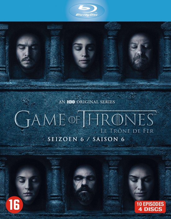 Game Of Throne Saison 6 : throne, saison, Bol.com, Thrones, Seizoen, (Blu-ray), Dvd's