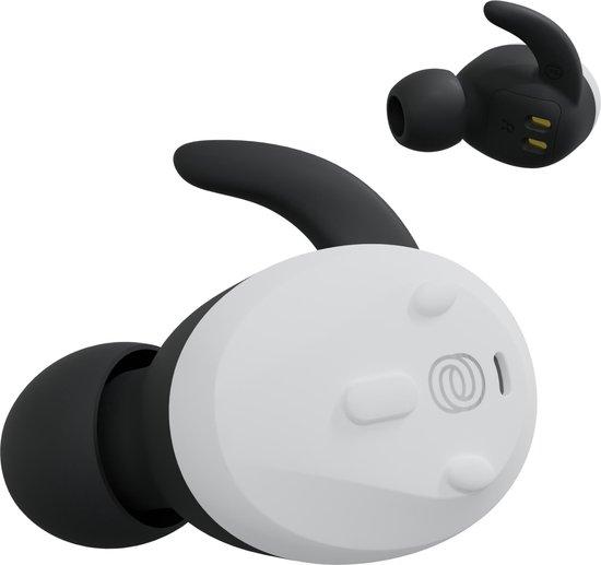 Thone TW2 draadloze oordopjes - draadloze oortjes in ear met oplaadcase - tot 36 uur afspeeltijd - Wit
