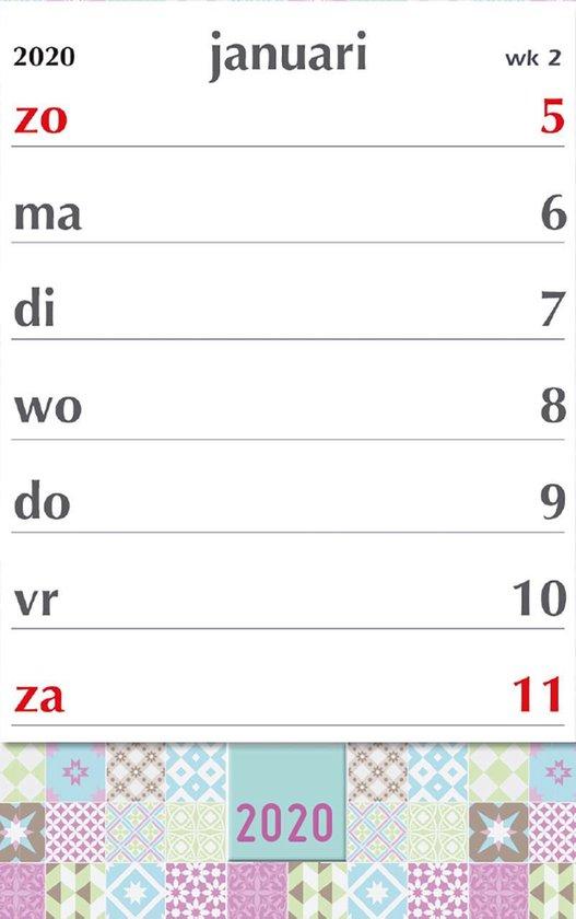 bol.com | XL-week kalender 2020 - Pastel - 21 x 27 cm