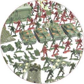 bol.com | Gigantische set militaire figuren, soldaten, vliegtuigen, tanks,  muren en meer....