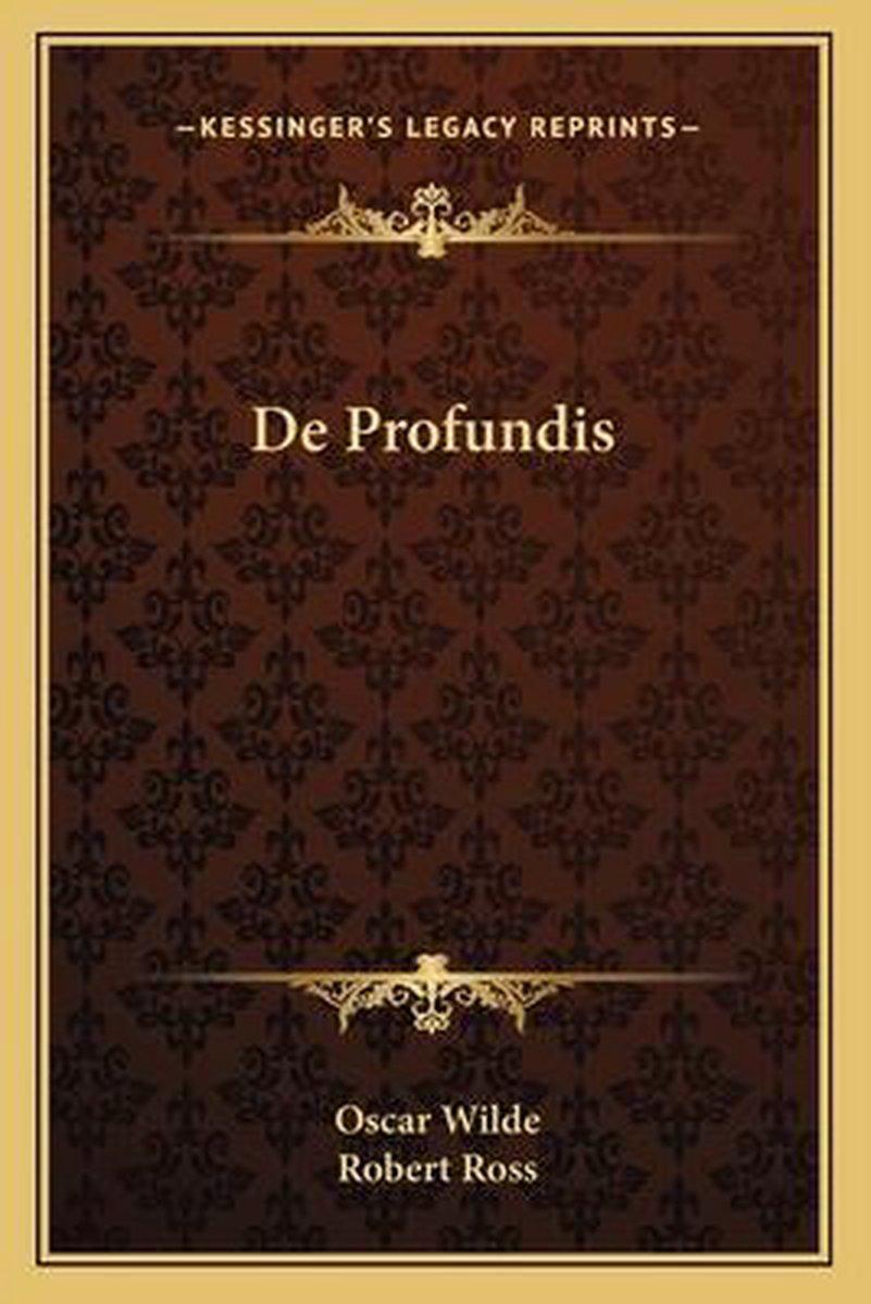 De Profundis (oscar Wilde) : profundis, (oscar, wilde), Bol.com, Profundis