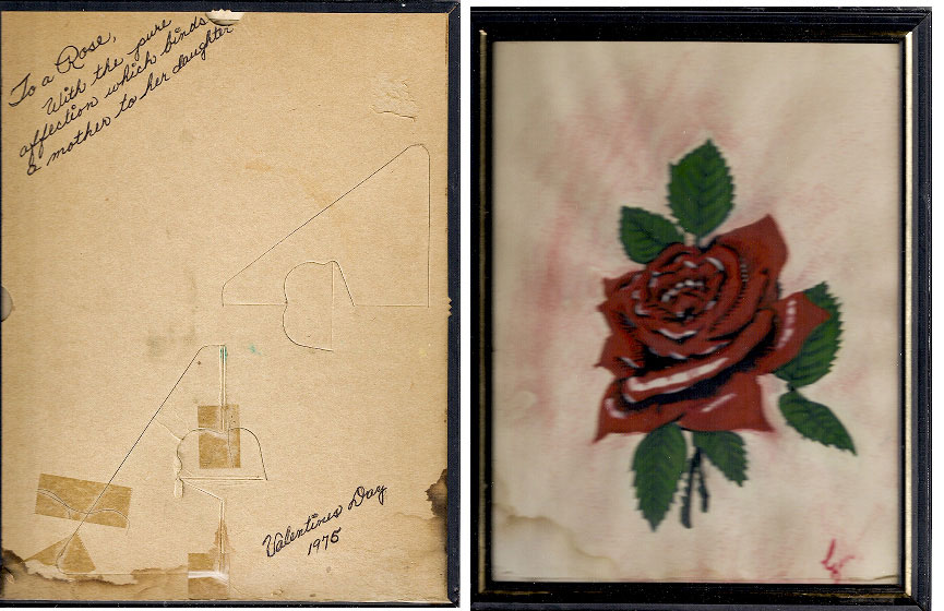 A Valentine's Day card Genevieve Lucchesi crafted for her daughter Rosemary in 1975.