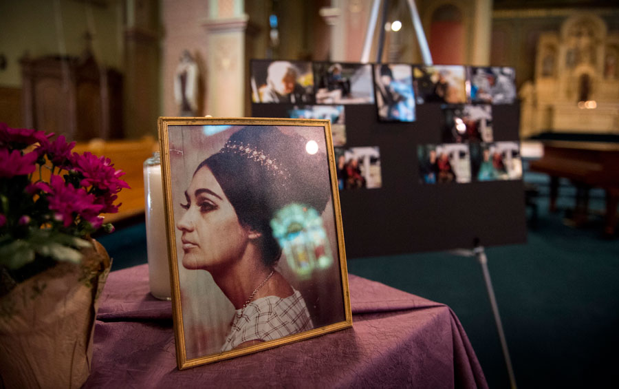 Genevieve Lucchesi's two distinct lives came together during her memorial service in June 2015.