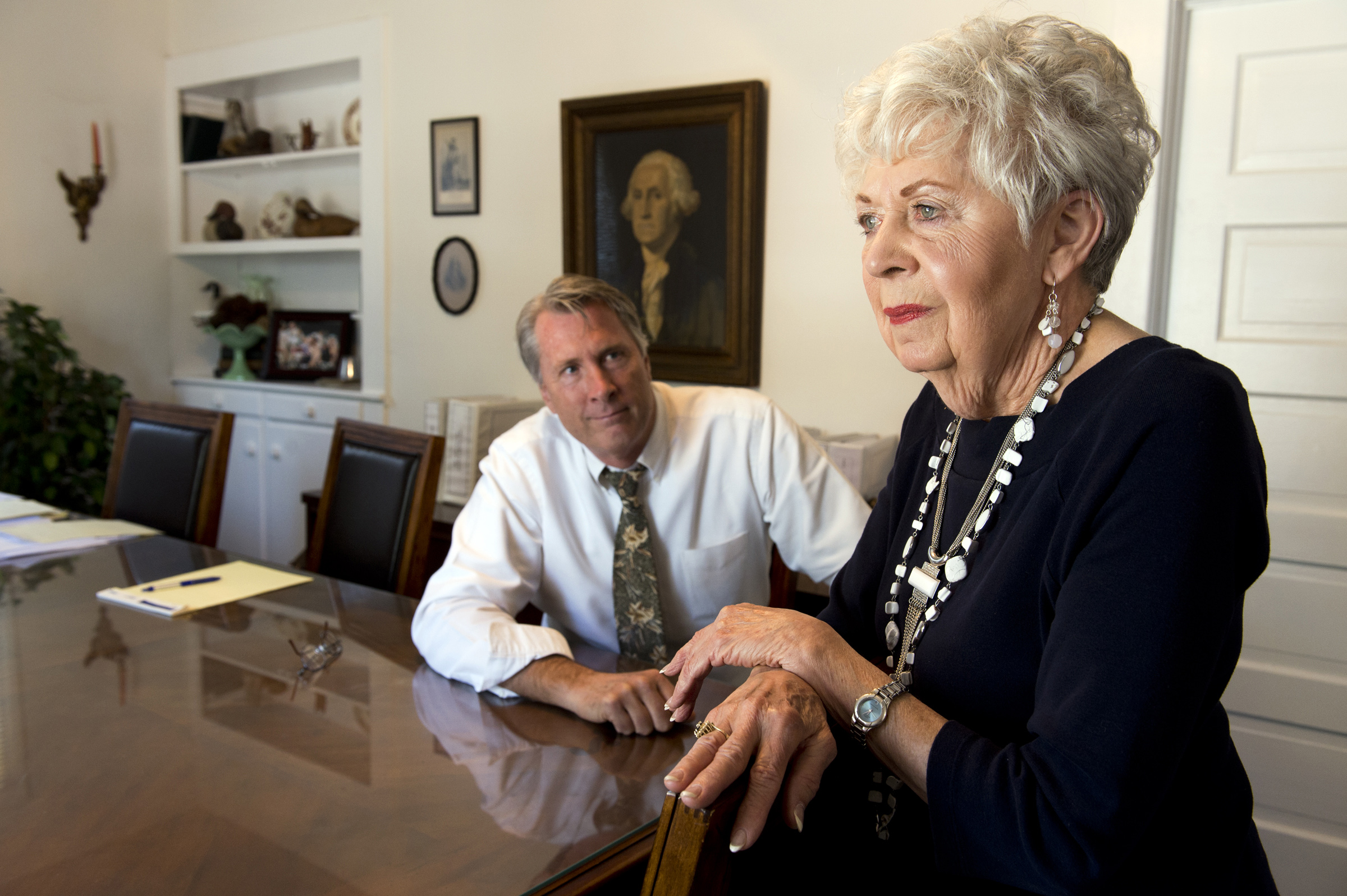 Attorney Joseph M. Earley III, left, represents Bonnie Nidiver, a longtime Butte County resident. After her husband died in 2011 following a stay at a Paradise nursing home, the widow was reluctant to file a lawsuit, but said she proceeded in the hope of helping others.