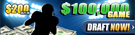DraftDay Announes The DraftDay $100,000 Game - Qualify Now for the November 22nd Event 1