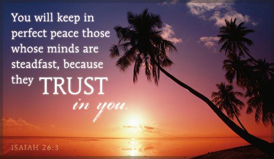 Isaiah 26:3 E-card