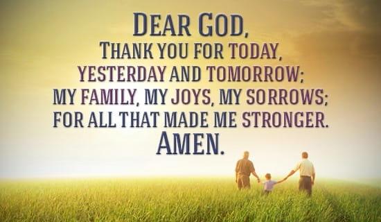 thank you god goodnight prayer