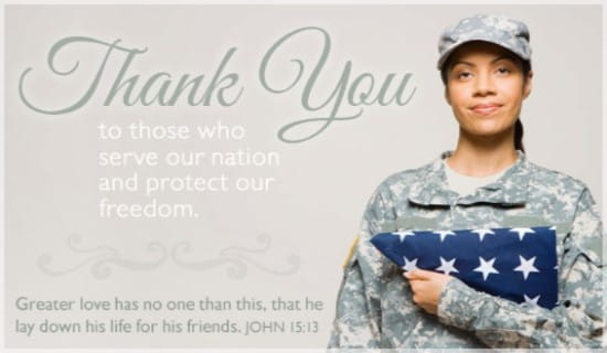 Free Thank You ECard EMail Free Personalized Patriotic
