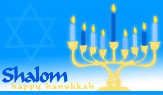 Happy Hanukkah ECard Free Hanukkah Cards Online