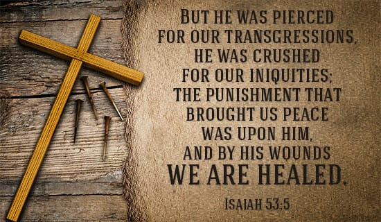 Image result for Picture of Isaiah 53:5