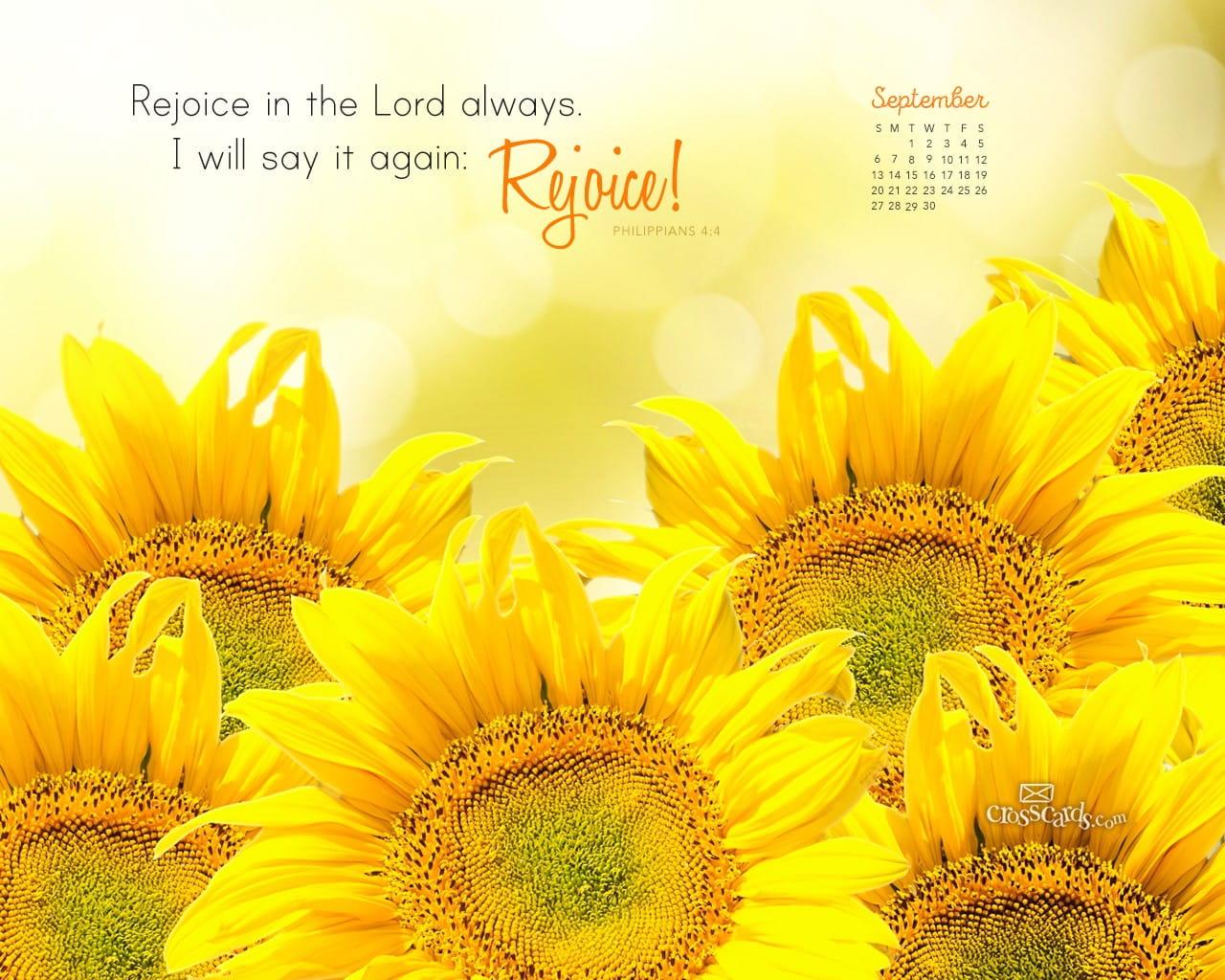 Fall Scripture Iphone Wallpaper September 2015 Philippians 4 4 Desktop Calendar Free