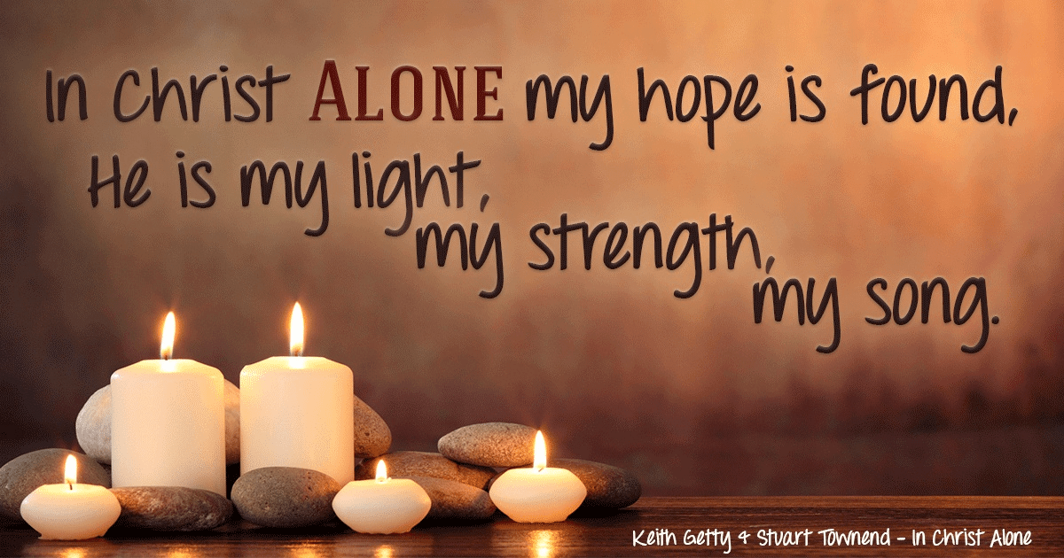 In Christ ALONE I Will Put My Hope ECard Free Facebook