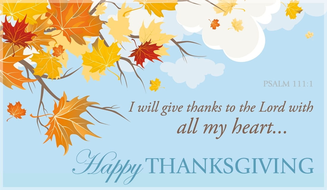 Psalm 1111 ECard Free Thanksgiving Cards Online