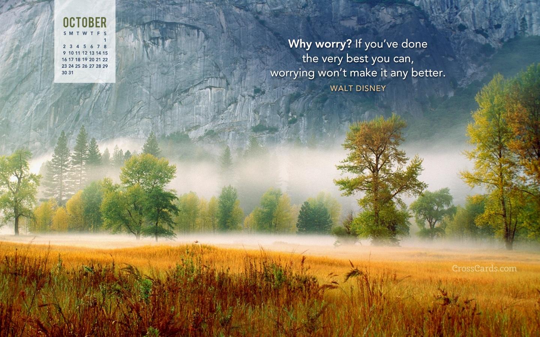 Sympathy Wallpaper Quotes October 2016 Walt Disney Quote Desktop Calendar Free