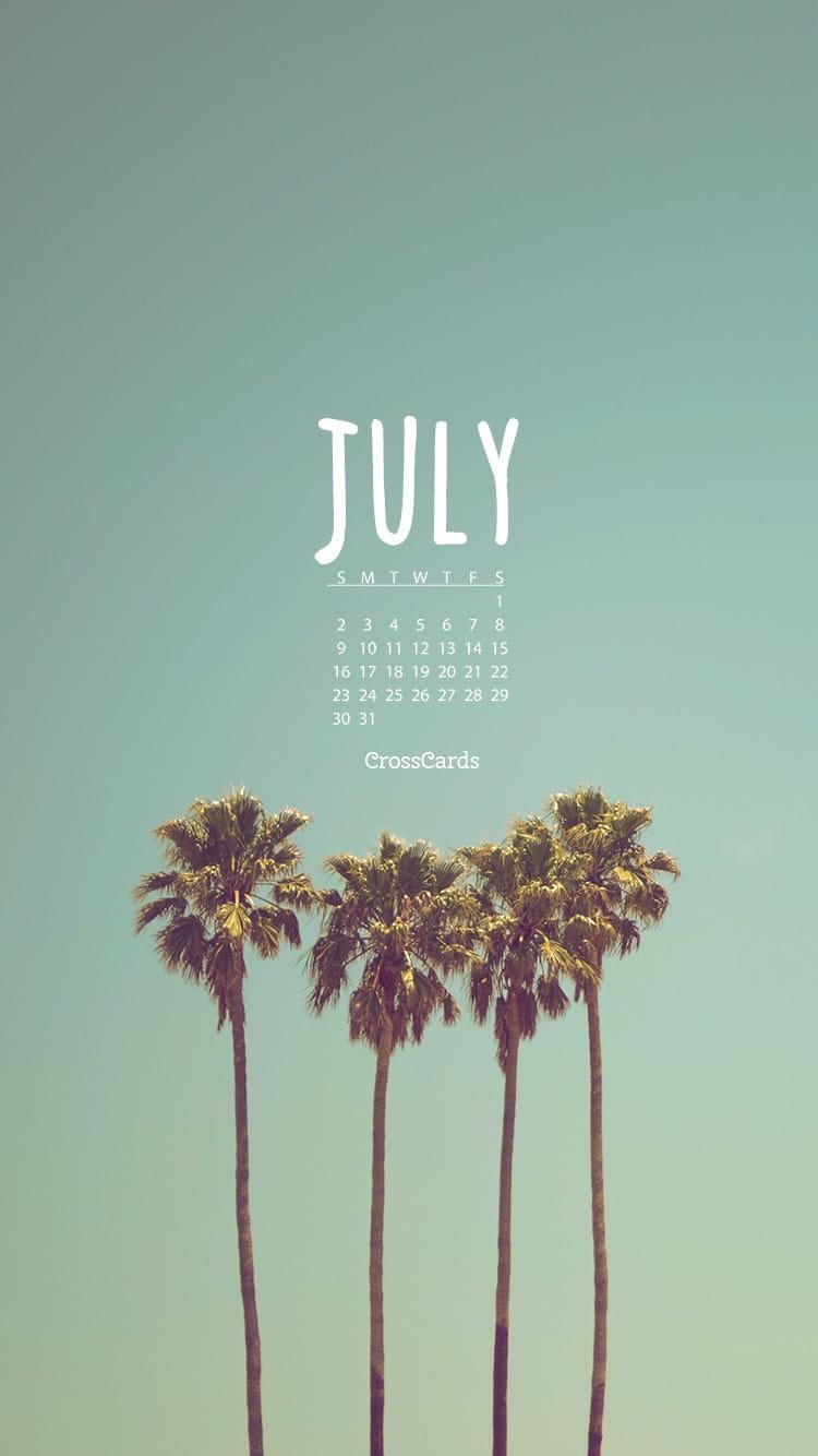 Fall Scripture Wallpaper July 2017 Palm Trees Desktop Calendar Free July Wallpaper