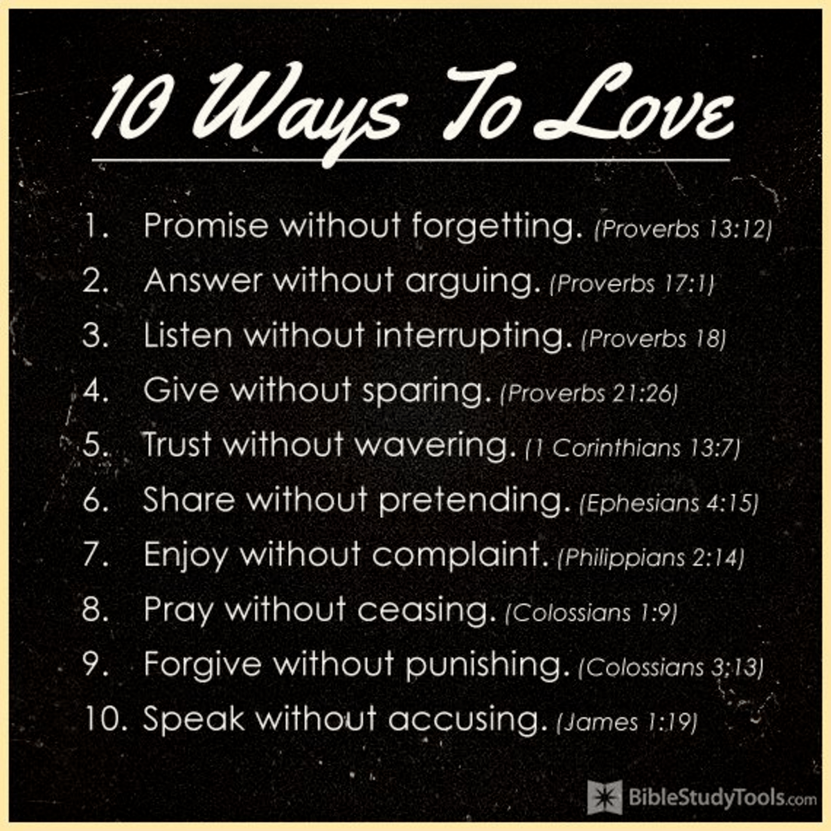 10 Ways To Love  Inspirations