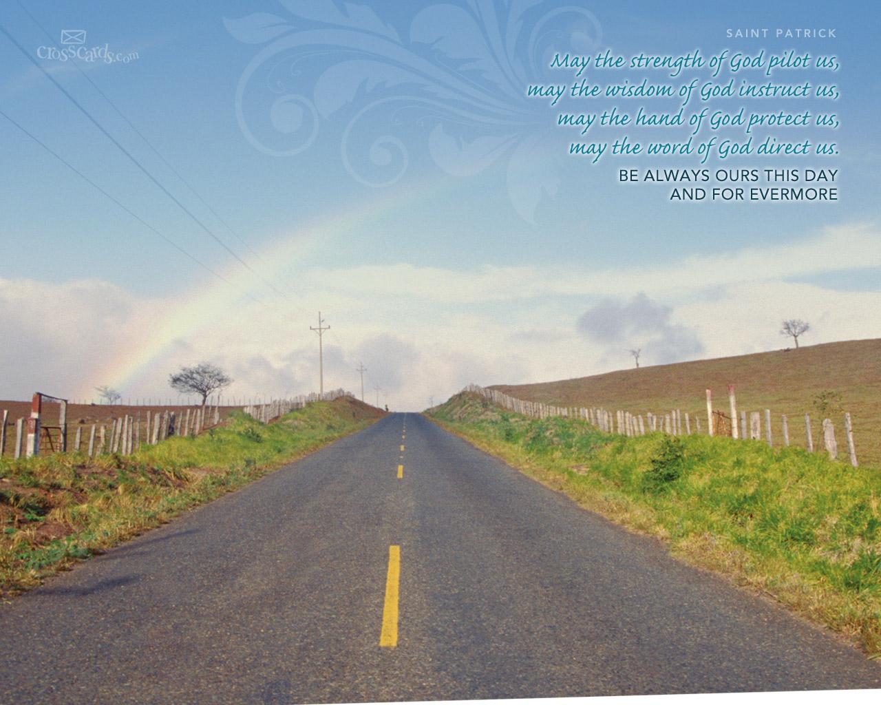 Saint Patrick Quote - 1280 x 1024