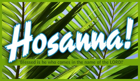 Sermon Mark 11111  Hosanna A Palm Sunday Plea  First Baptist Scott City MO