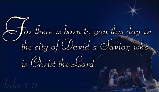 christ the savior is bornmerry christmas