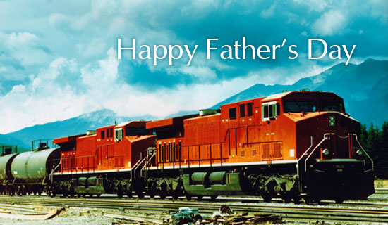 Free Train ECard EMail Free Personalized Father's Day