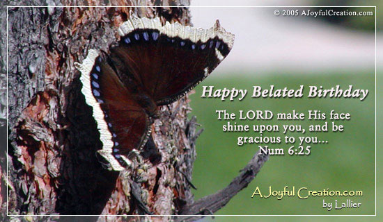 Christian Wallpaper Fall Happy Birthday Happy Belated Ecard Free A Joyful Creation Greeting