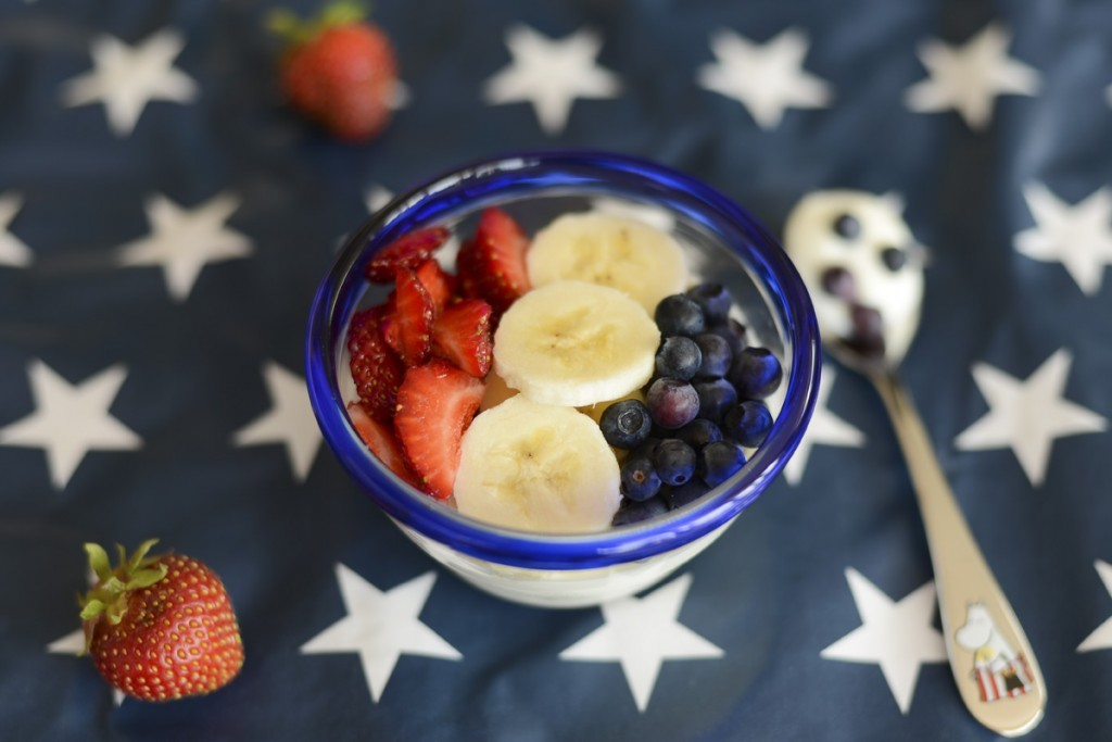 breakfast red white blue