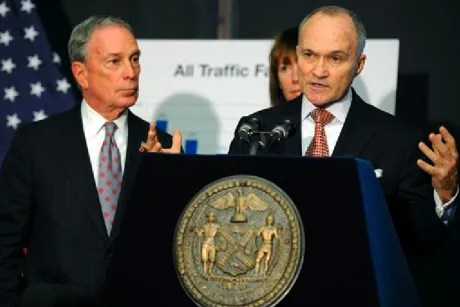 In this Dec. 29, 2011, file photo, New York City Police Commissioner Ray Kelly speaks at a news conference with New York Mayor Michael Bloomberg, left, in Brooklyn, N.Y.