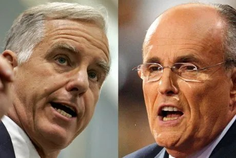 Howard Dean and Rudy Giuliani